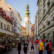 Shopping in Bratislava, the capital of the the Slovak Republic or Slovakia. Photo via Flickr:Kurt Bauschardt