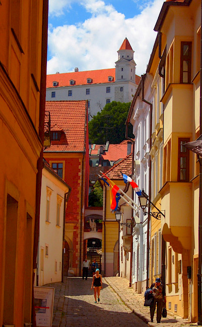 Strolling the streets in Bratislava, Slovakia. Photo via TO.