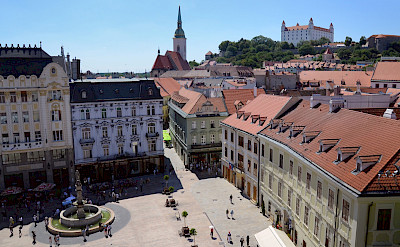 Bratislava, the capital of Slovakia, along the Danube River. Photo via Flickr:Aapo Haapanen