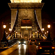 Famous chain bridge that links Buda and Pest in Budapest, Hungary. Photo via Tinou Bao