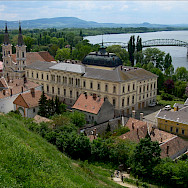 Former Archbishop Palace in Esztergom, Hungary - on the border with Slovakia along the Danube River. Photo via Flickr:Greg Oriosz