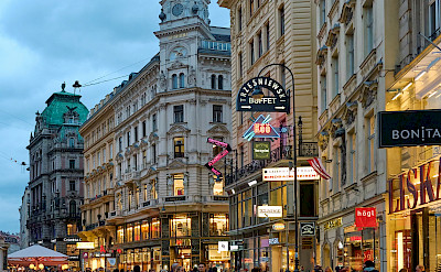 Shopping the streets of Vienna, Austria. Photo via Flickr:Pedro Szekely