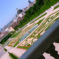 Gardens at the Belvedere Castle in Vienna, Austria. Photo via Flickr:renate dodell