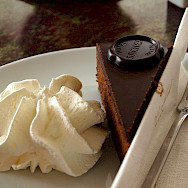 Genuine Sacher Torta at Hotel Sacher in Vienna, Austria. Photo via Flickr:Paul Barker Hemings