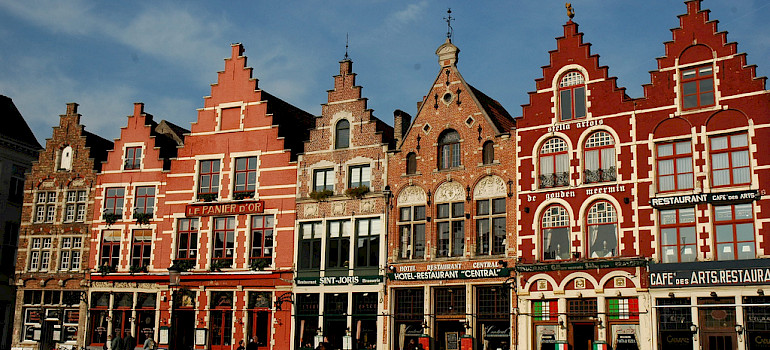 The gorgeous colorful gables of Bruges - photo via Flickr:raindog