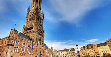 Belfort in Bruges located on its famous square. Photo via Flickr:Wolfgang Staudt