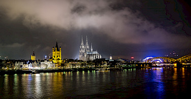 Along the Rhine River in Cologne, Germany. Photo via Flickr:Jannik Nitz