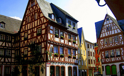 Mainz is known for its many gorgeous half-timbered houses!