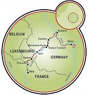 Mainz a Metz Mapa