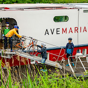 Disembarking | Ave Maria | Bike & Boat Tour