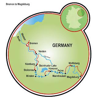 Bremen to Magdeburg Map