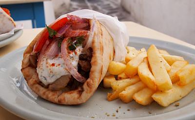 Falafel & fries in Greece, common Mediterranean food! Flickr:Ben Ramirez