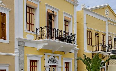Colorful houses on Symi Island in Greece. CC:Jebulon