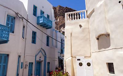 The main town on Island of Nisyros is Mandraki. CC:Mike 1979 Russia