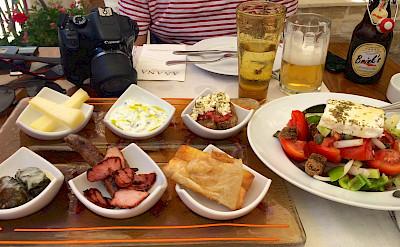 Mezes, a Mediterranean appetizer in Greece. Flickr:Ania Mendrek