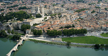 Avignon on the Rhône River, Vaucluse, France. Photo via Wikimedia Commons:OT Avignon