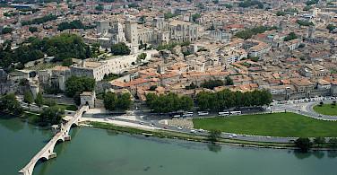 Avignon on the Rhône River, Vaucluse, France. Photo via Wikimedia Commons:OT Avignon