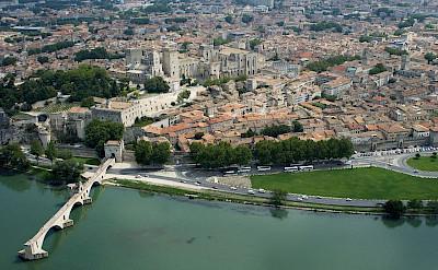 Avignon on the Rhône River, Vaucluse, France. Wikimedia Commons:OT Avignon