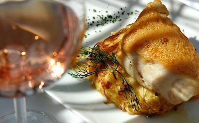 Fancy French food in Les-Baux-de-Provence, France. Flickr:vinhosdeprovence