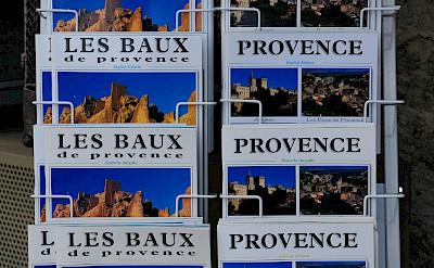 Postcards for sale in Les-Baux-de-Provence, France. Flickr:Ming-yen Hsu