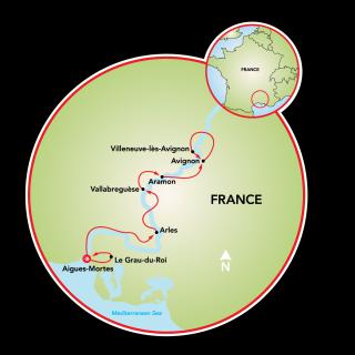 Provence - A Natureza de Camargue Map