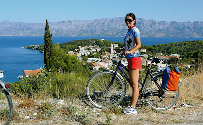 Cycling on Brac Island, Dalmatia, Croatia.