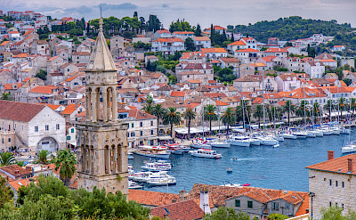 Harbor on Hvar Island in Croatia. Flickr:Arnie Papp