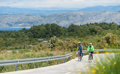 Great views as you cycle along the Dalmatian Coast. Hvar Island, Croatia.