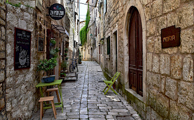 Old Town street in Stari Grad on Hvar Island in Croatia. Flickr:Jocelyn Erskine-Kellie