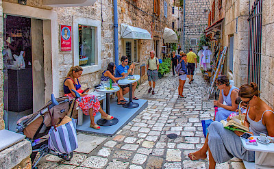 Tourists on Hvar Island in Croatia. Flickr:Arnie Papp