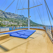 Sun deck - Princess Diana - Bike & Boat Tours