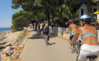 Cycling along the Dalmatian Coast in Croatia. Photo by Erhard & Silvia Sommer