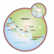 National Parks of Dalmatia E-Bike and Boat Map