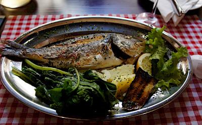 Grilled fish in Split, Croatia. Photo via Flickr:brownpau