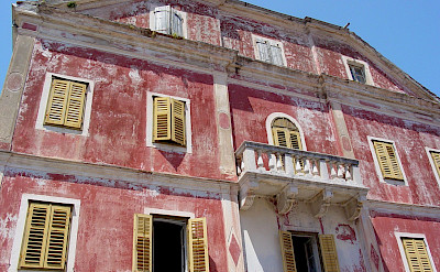 Old building facade in Skradin, Croatia. Flickr:Adam Jones