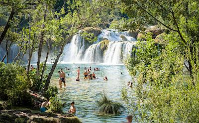 Waterfalls in Skradin, Croatia. Flickr:Luca Sartoni
