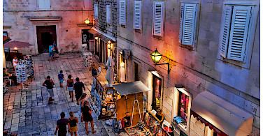 Evening stroll through Trogir, Croatia. Photo via Flickr:Mario Fajt