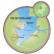 Bike and Sail the Zuiderzee Coast Map