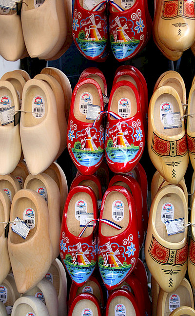"Holland's famous ""klompen"" for sale. Photo via Flickr:Jess"