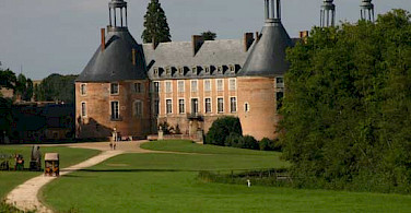 Chateau de Saint Fargeau in Burgundy