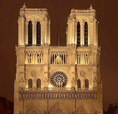 Notre Dame Cathedral in Paris - photo courtesy of Wikimedia Commons:Sanchezn