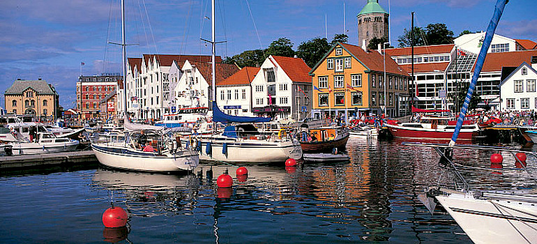 Stavanger in Norway. Photo via Wikimedia Commons:Odd Inge Worsoe