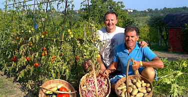 Farm fresh, home grown food at the farm in Vecciano, Italy!
