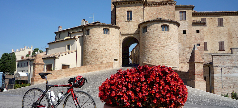Bike the Villages and Castles in Riccione, Italy. Photo by Hennie