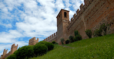 Gradara Castle in Gradara, Italy. Photo by Mary Burkhart, who went biking with Hennie here.