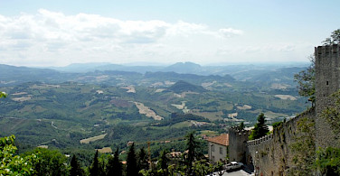 View from San Marino, Italy. Photo by Sally Fishbeck