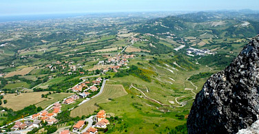View from San Marino, Italy towards Riccione along the Adriatic Sea. Photo by Sally Fishbeck