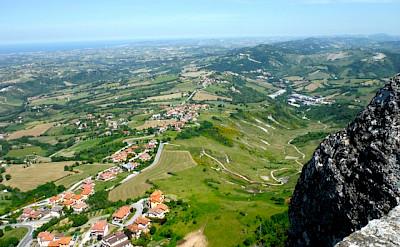 View from San Marino, Italy towards Riccione along the Adriatic Sea. Photo by Sally Fishbeck