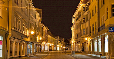 Arnstadt by night - photo via Flickr by viadata.pictures