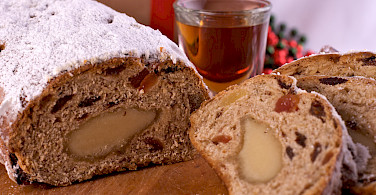 "Thuringia's festive ""stollen"" cake. Photo via Flickr via Claire Sutton"
